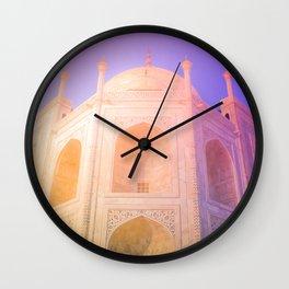 Morning Light Reflexion at Taj Mahal Wall Clock
