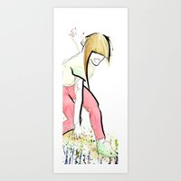 girl power Art Prints featuring Girl Power by Juan I. Scocozza