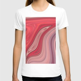 liquefied red T-shirt