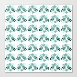 Mint Sampler Rose Canvas Print