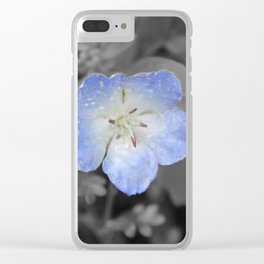 Little Blue Flower Clear iPhone Case