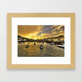 Ilfracombe Harbour at dusk  Framed Art Print