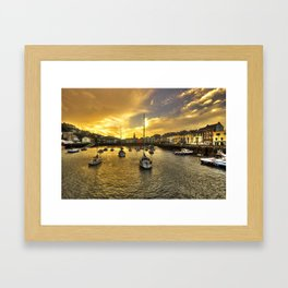 Ilfracombe Harbour at dusk  Framed Art Print