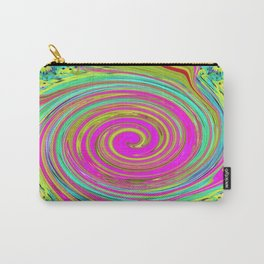 Groovy Abstract Pink Swirl Art 094 Carry-All Pouch