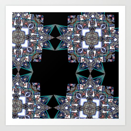 Internal Kaleidoscopic Daze-15 Art Print