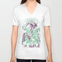 science V-neck T-shirts featuring Science by Fuacka