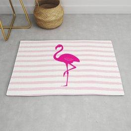 Flamingo & Stripes - Blush Hot Pink Rug