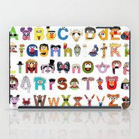 sesame street iPad Cases featuring Sesame Street Alphabet by Mike Boon