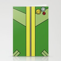 persona 4 Stationery Cards featuring Persona 4 Chie Satonaka Jacket by Bunny Frost