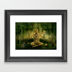 Magic forest cure Framed Art Print