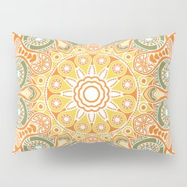 ornamental round lace pattern, Pillow Sham