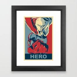Saitama - Hero Framed Art Print
