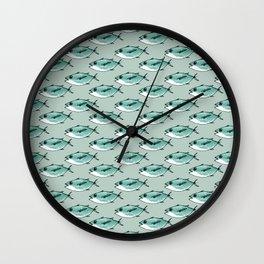 Shoal of bluefin tuna Wall Clock