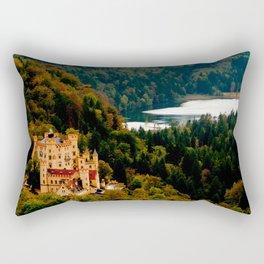 Castle under mountains Rectangular Pillow