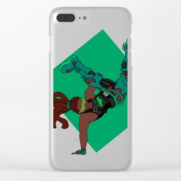 DJ Lucio groovin to the beat Clear iPhone Case