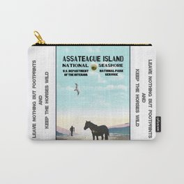 Retro WPA Style Poster Assateague Island Maryland Carry-All Pouch