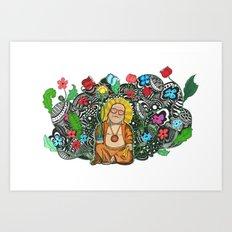 Bamboo Buddha Art Print