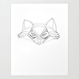 Plain Spirit Fox Art Print