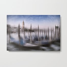 Digital-Art VENICE Grand Canal and St Mark's Campanile Metal Print