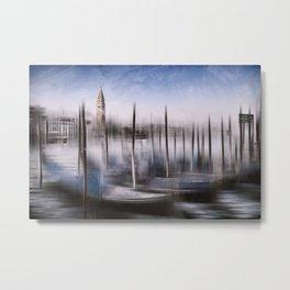 Digital-Art VENICE Grand Canal and St Mark's Campanile Metal Print