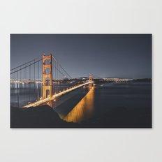 Golden Gate Glowing Canvas Print