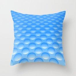 Bump Pattern, Blue Throw Pillow
