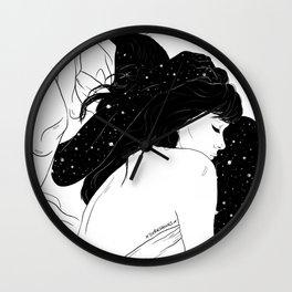 Galaxy Lovers Wall Clock