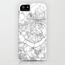 Seoul White Map iPhone Case
