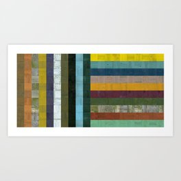 Wooden Abstract Vl Art Print