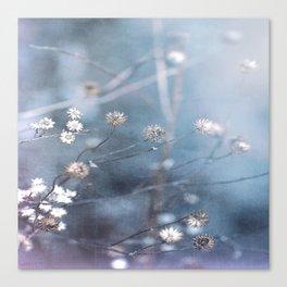 Dusty Fog Flowers Canvas Print