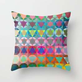 Colorful Star Of David Pattern  Throw Pillow