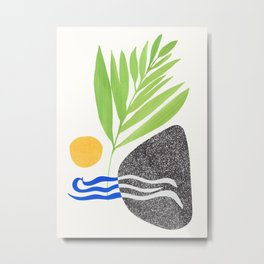 Yosemite Abstract - Minimalist Design Metal Print