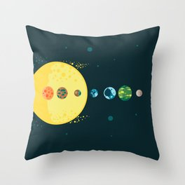 Trappist System Throw Pillow
