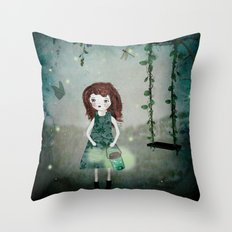 Friends of the night Throw Pillow