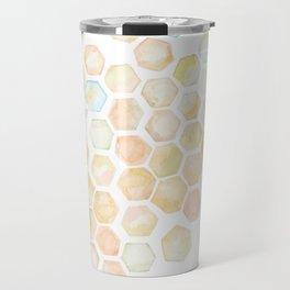 Bee and honeycomb watercolor Travel Mug