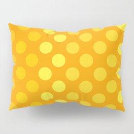 """""""Yellow & Ocher Burlap Texture & Polka Dots"""" Pillow Sham"""