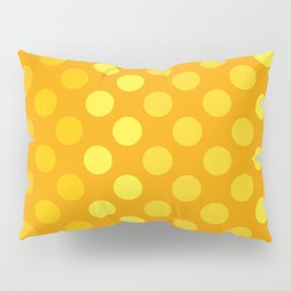 """Yellow & Ocher Burlap Texture & Polka Dots"" Pillow Sham"