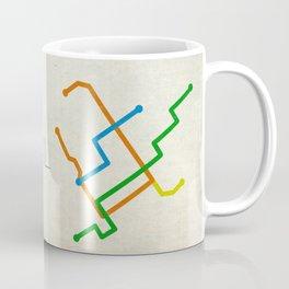 Minimal Montreal Subway Map Coffee Mug