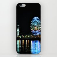 kobe iPhone & iPod Skins featuring Kobe Neon Haze by Dora
