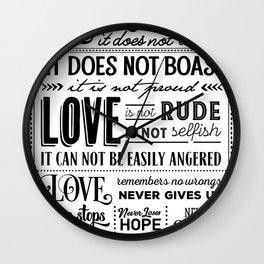 Love Is Wall Clock