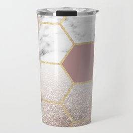 Cherished aspirations rose gold marble Travel Mug