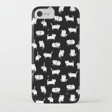 White cats on black Slim Case iPhone 7