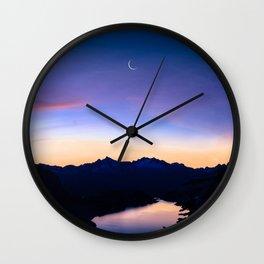 Moon Amongst The Stars Wall Clock