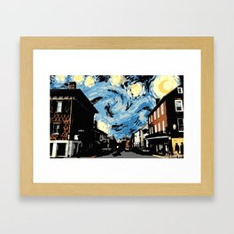 Main Street Lexington Starry Night Framed Art Print