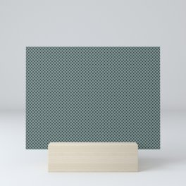 PPG Glidden Trending Colors of 2019 Night Watch PPG1145-7 Polka Dots on Scarborough Green PPG1145-5 Mini Art Print
