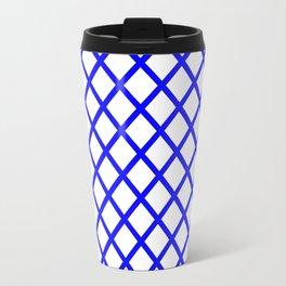 Cobalt Lattice Travel Mug