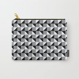 Black White and Grey Geometric Pattern Carry-All Pouch
