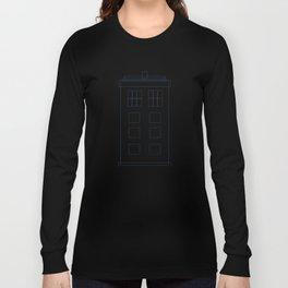 TARDIS Blueprint Pattern - Doctor Who Long Sleeve T-shirt