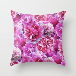 Lovely pink peonies Throw Pillow