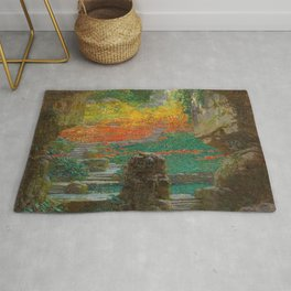 Autumn in the Green Grotto by Karel Vitezslav Masek Rug